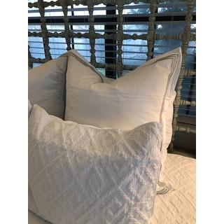 Echelon Home Three Line Hotel Collection Cotton Sateen Euro Shams (Set of 2)