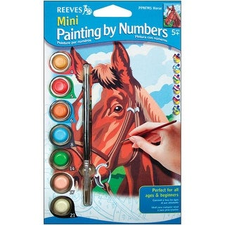 "Mini Paint By Number Kit 4.5""X7""-Horse"