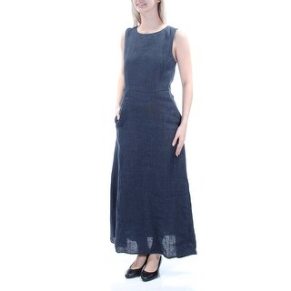 MAXMARA $425 Womens New 1453 Navy Jewel Neck Sleeveless Micro Mini Dress 6 B+B