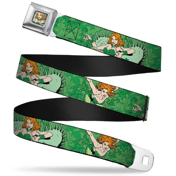 Poison Ivy Face Full Color Greens Dc Originals Poison Ivy 2 Poses Ivy Seatbelt Belt
