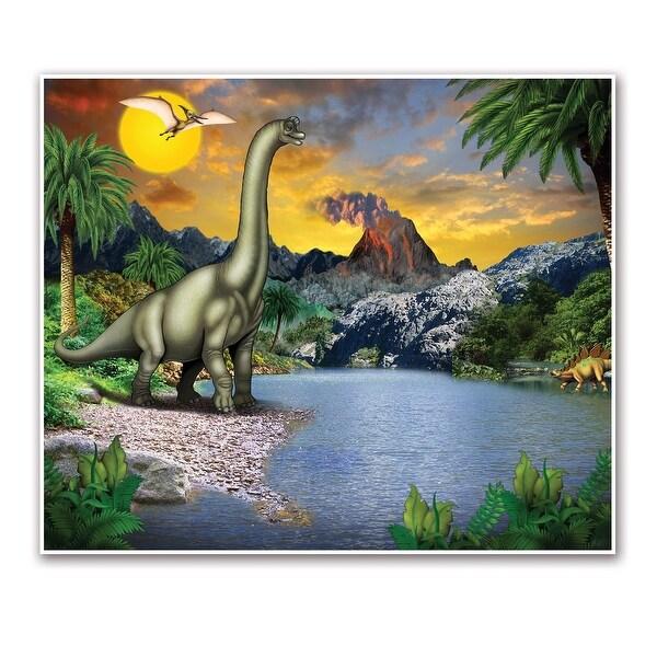 "Pack of 6 Dinosaur Fantasy World Insta-Mural Wall Art Decorations 72"" - N/A"