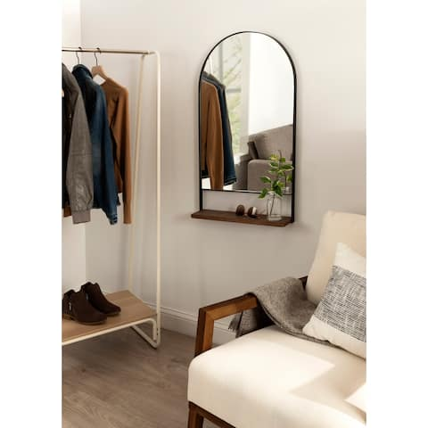 Kate and Laurel Chadwin Wall Mirror with Shelf