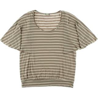 Kut Womens Jersey Striped Blouse