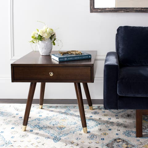 Safavieh Levinson Mid-Century Gold Cap End Table