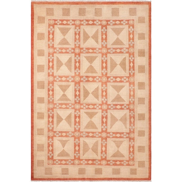 """Bohemien Ziegler Nancie Hand Knotted Area Rug -6'2"""" x 8'8"""" - 6 ft. 2 in. X 8 ft. 8 in.. Opens flyout."""