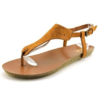 Mia Sylvia Women Open Toe Synthetic Tan Thong Sandal
