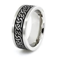 Stainless Steel Ring w/ Ancient Tribal Design