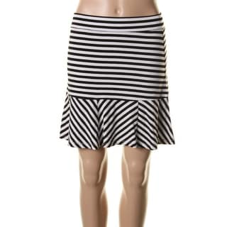 Say What? Womens Juniors Jersey Striped Flare Skirt - S
