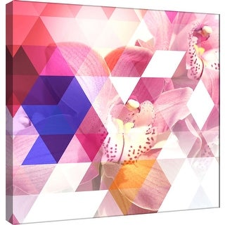 """PTM Images 9-101211  PTM Canvas Collection 12"""" x 12"""" - """"Crystalized Orchids"""" Giclee Orchids Art Print on Canvas"""