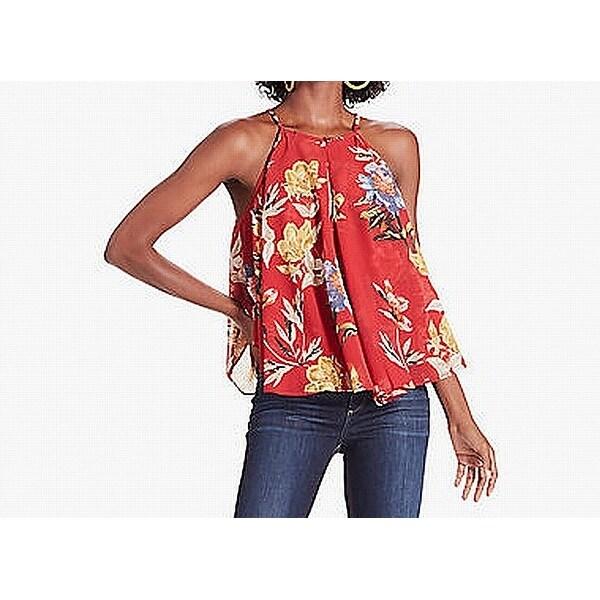 74bce8864cd4f Shop Lucky Brand Womens Medium Phil Floral-Print Tank Top - Free ...