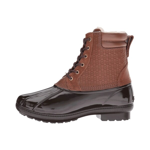 MICHAEL Michael Kors Womens Easton Bootie Leather Closed Toe Ankle Rainboots - 6