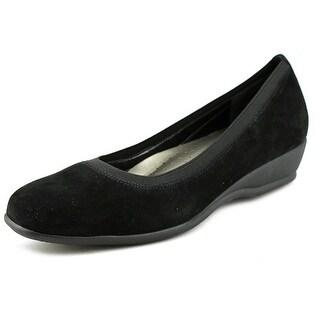 Trotters Lansing N/S Open Toe Leather Wedge Heel