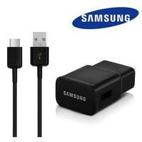 Samsung Wall Fast Charger and USB Type C Cable for Galaxy S8/S8+ - Black