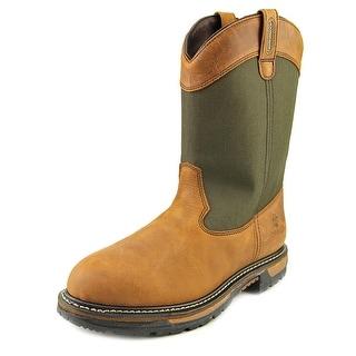 "Rocky 2867 10"" Ride Wellington Men Steel Toe Leather Brown Work Boot"