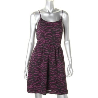 Kensie Womens Juniors Chiffon Printed Casual Dress - XS