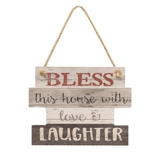 Bless This House Slat Look Hanging Sign