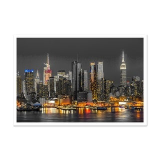 New York Touch of Color Skylines Matte Poster 36x24
