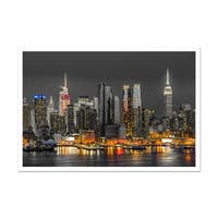 New York Touch of Color Skylines Matte Poster 24x16