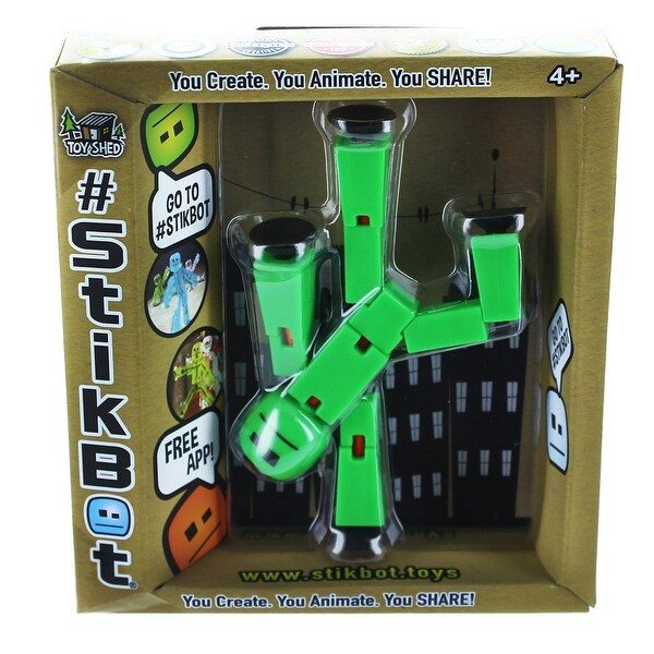 """Stikbot 6"""" Action Figure: Solid Green"""