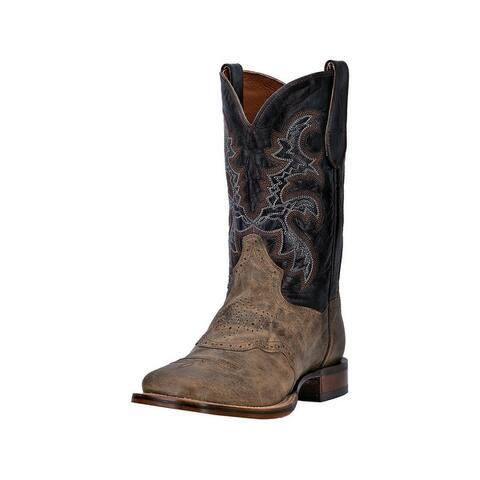 Dan Post Western Boots Mens Franklin Cowboy Mad Cat Sand Black