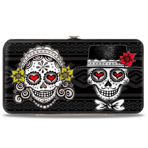 Los Novios Black Gray White Multi Color Hinged Wallet - One Size Fits most