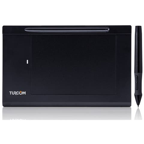 "Turcom Graphics Tablet Drawing Touch Pen for Windows and Mac - 5.5 '' x 4"" Black Surface Area (TS-6540)"