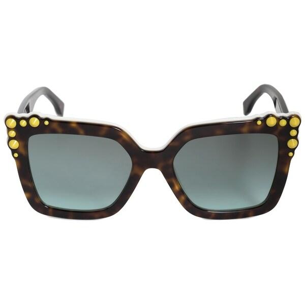 6d3c30c03e3a2 Shop Fendi Can Eye Square Sunglasses FF0260S C9K EQ 52 - Free ...