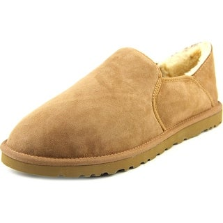 Ugg Australia Kenton Bomber Men Round Toe Suede Tan Slipper