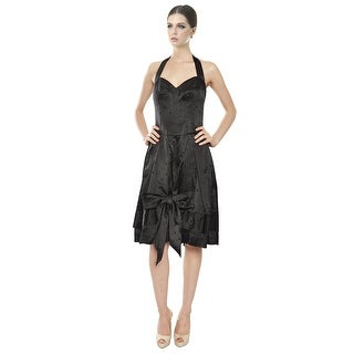 Jill Stuart Silk Polka Dot Halter Dress - 6
