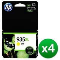 HP 935XL High Yield Yellow Original Ink Cartridge (C2P26AN) (4-Pack)