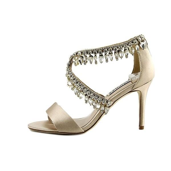 BADGLEY MISCHKA Womens Grammy Open Toe Bridal Ankle Strap Sandals
