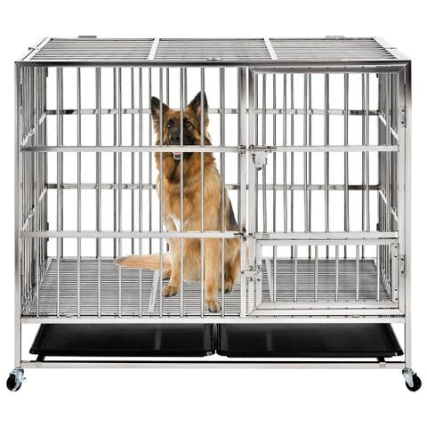 43 Inch Heavy duty Stainless Steel Pet Crate