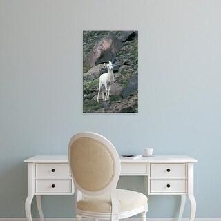 Easy Art Prints Gavriel Jecan's 'Dall Sheep On The Mountainside' Premium Canvas Art