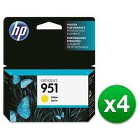 HP 951 High Yield Yellow Original Ink Cartridge (CN052AN)(4-Pack)