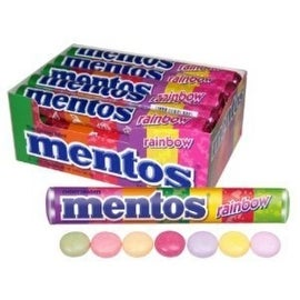 Mentos Rainbow Roll 15 Rolls (1.32 oz per roll)