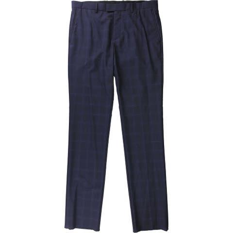 Theory Mens Spacedye Grid Dress Pants Slacks