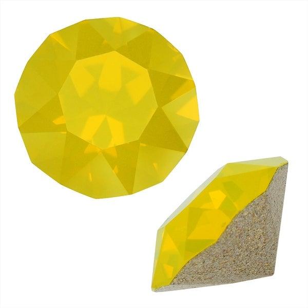 Swarovski Crystal, 1088 Xirius Round Stone Chatons pp14, 40 Pieces, Yellow Opal