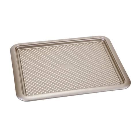 Home Basics Aurelia Non-Stick Carbon Steel Cookie Sheet, Gold
