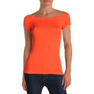 Lauren Ralph Lauren Womens Pullover Top Scoop Neck Short Sleeves