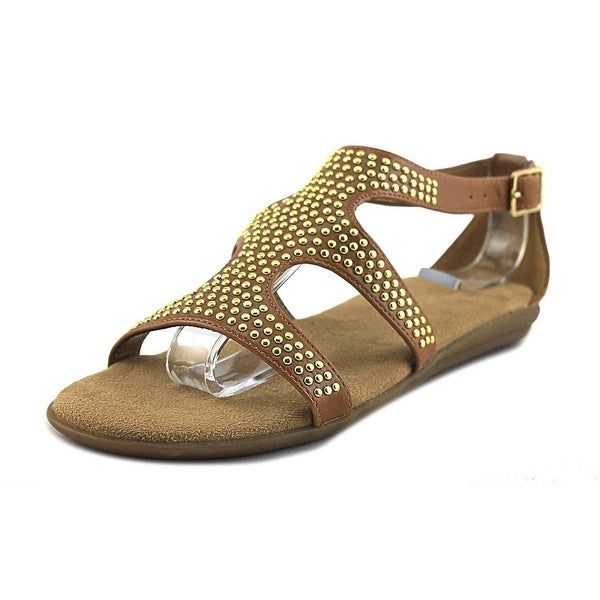 Aerosoles Swim Chlub Women Open Toe Synthetic Tan Gladiator Sandal