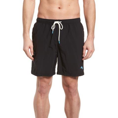Tommy Bahama Mens Shorts Black Size Medium M Drawstring Board Surf