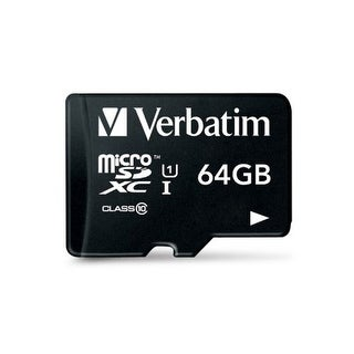 Verbatim VTM44084b Verbatim 64 GB Pro MicroSDXC Memory Card with Adapter, UHS-1 Class 10 44084