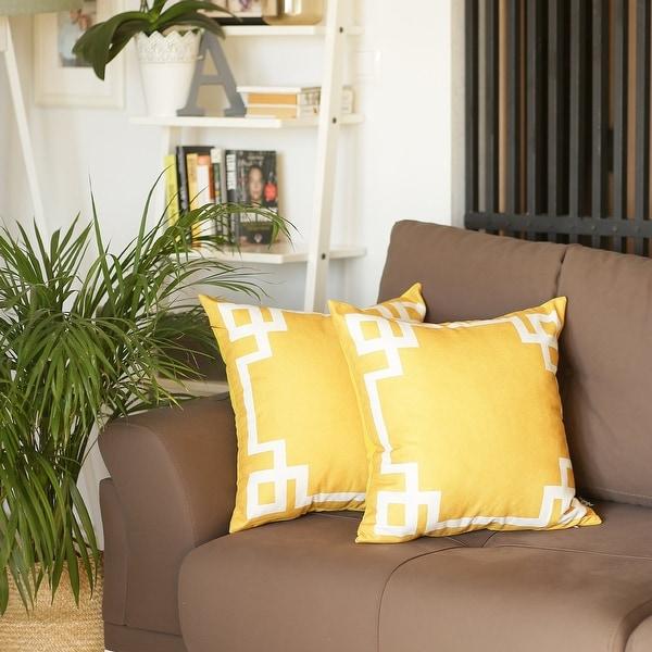 Porch & Den Schendel Greek Key Throw Pillow Cover Set (2 pcs in set). Opens flyout.