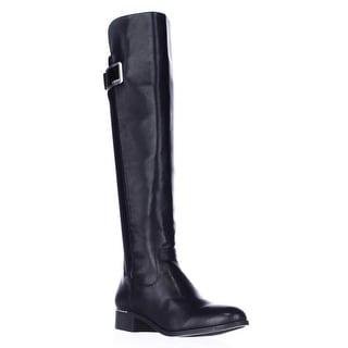 Calvin Klein Cyra Dress Back Stretch Riding Boots - Black
