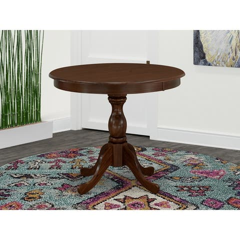 Round Small Dining Table with Pedestal Base (Color Option Available)