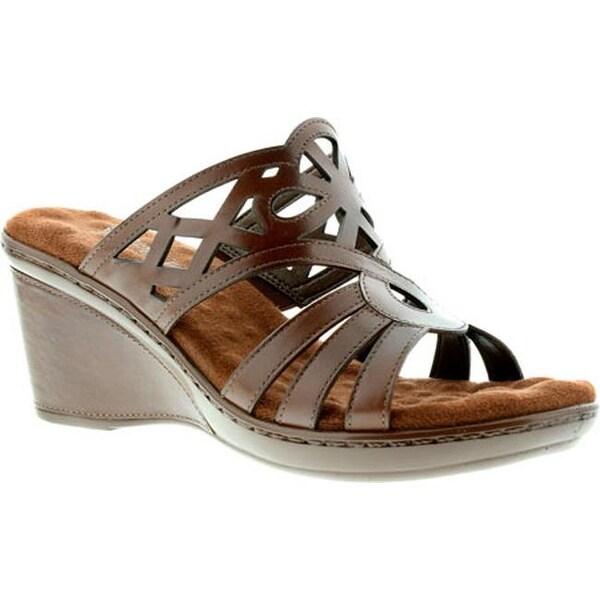 e74b089ca6a6 Walking Cradles Women  x27 s Logan Slide Tobacco Soft Antanado Leather