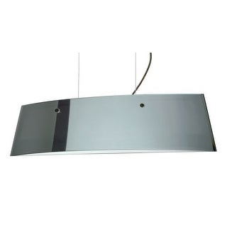 Besa Lighting LS3-4454MR Silhouette 3 Light Halogen Island Light with Mirror / Frost Glass Shade