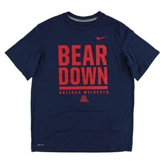 Nike Boys Arizona Wildcats Legend Word T Shirt Navy Blue - navy blue/red - XL