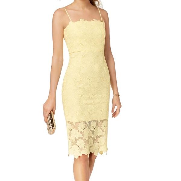 923a272a5222f Bardot Sunflower Yellow Women's Size Small S Lace Sheath Dress