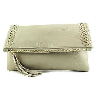 Moda Luxe Palermo Leather Clutch - Gray